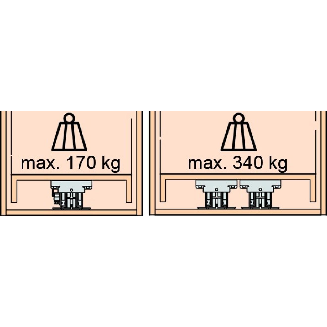 Hochschrank auszug eku forte einbautiefe 535 mm ve 1 garnitur