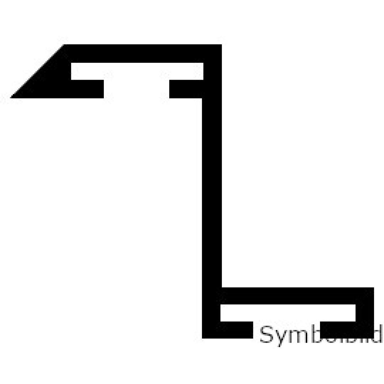 z rahmenprofil alu silber elox passend zu ve 4 meter bessler24 beschlaege. Black Bedroom Furniture Sets. Home Design Ideas