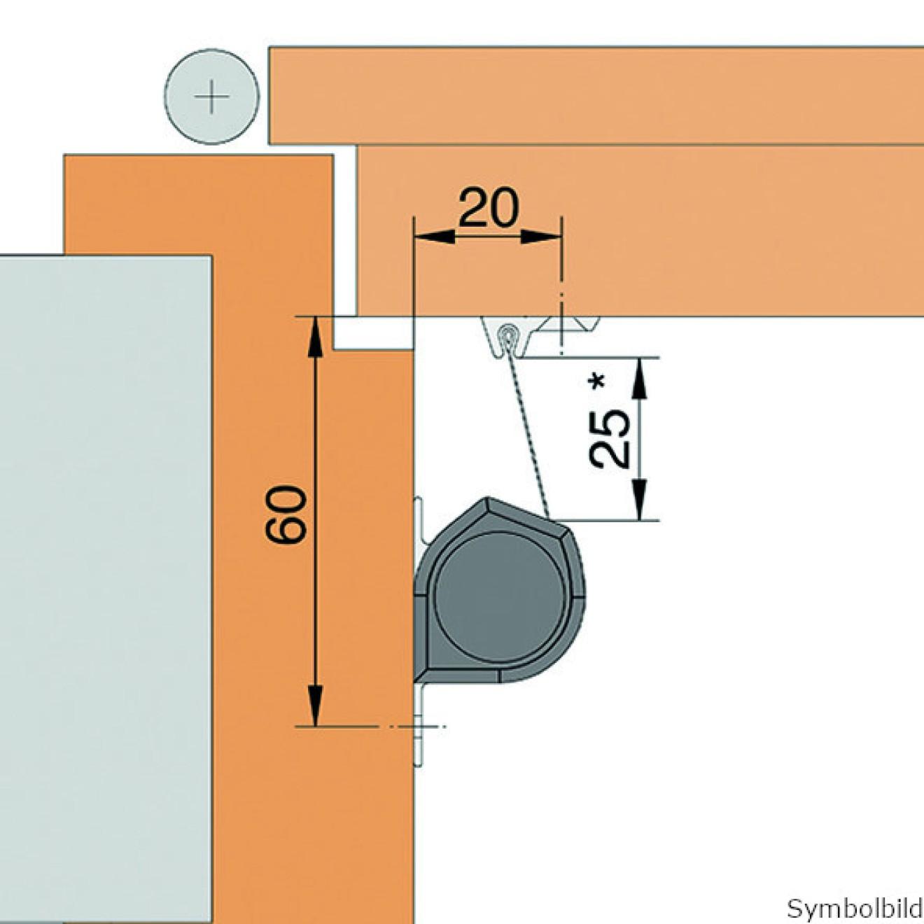 Athmer Fingerschutz Nr 30 L=2015mm Profil silber elox.//Rollo schwarz